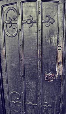 Photograph - Paint It Black Door by JAMART Photography