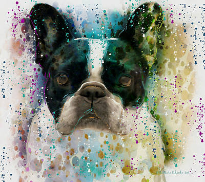 French Bull Dog Wall Art - Photograph - Paint It Frenchie by Barbara Chichester