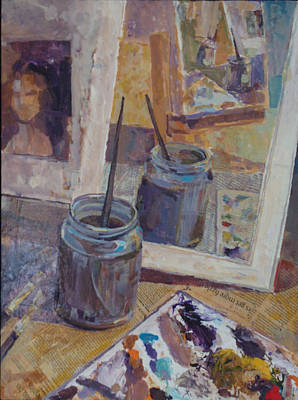 Painting - Paint Jar by Vaughan Davies
