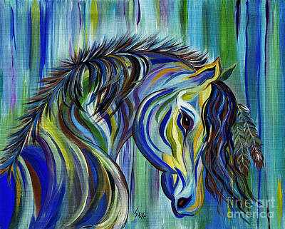 Art Print featuring the painting Paint Native American Horse by Janice Rae Pariza