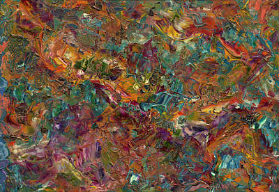 Textured Painting - Paint Number 16 by James W Johnson