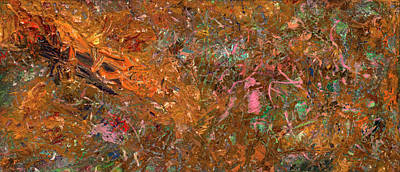 Raw Sienna Painting - Paint Number 19 by James W Johnson