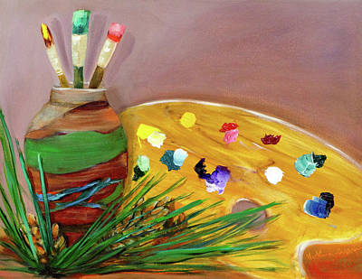 Painting - Paint On My Palette by Vicki VanDeBerghe