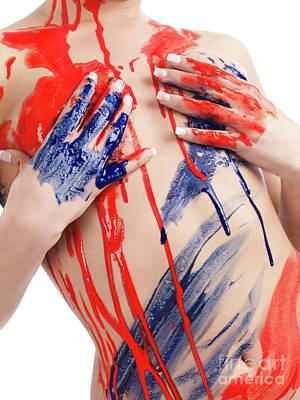 Hand Photograph - Paint On Woman Body by Oleksiy Maksymenko
