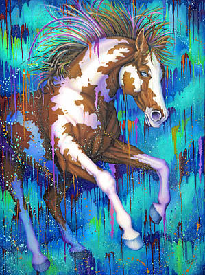 Painting - Paint Running Wild by Tish Wynne