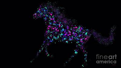 Art Print featuring the painting Paint Splattered Pony by Nick Gustafson
