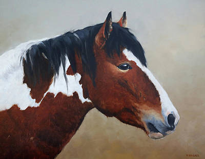 Painting - Paint Stallion by Peter Eades