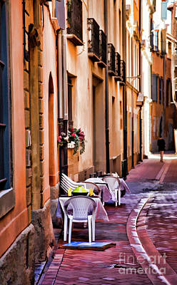Photograph - Paint Town Cafe Perpignan France  by Chuck Kuhn