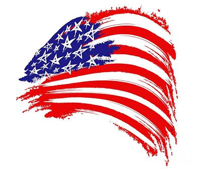 Painted American Flag Art Print by Stefano Senise