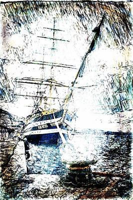 Pier Digital Art - Painted Amerigo Vespucci by Andrea Barbieri