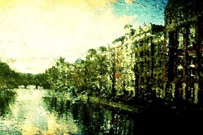Amsterdam Digital Art - Painted Amsterdam by Andrea Barbieri