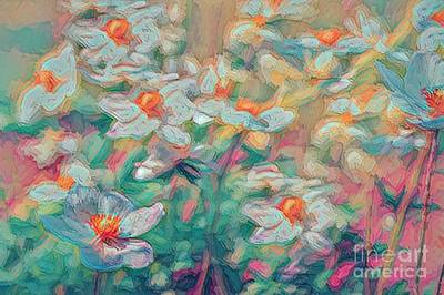 Photograph - Painted Anemones by Cathy Donohoue