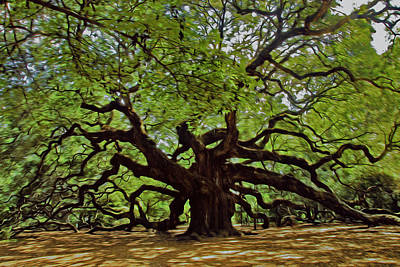 Photograph - Painted Angle Tree by Will Burlingham