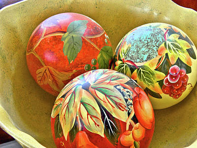 Photograph - Painted Balls by Charles Muhle