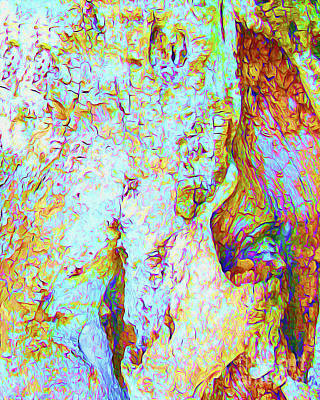 Surf Lifestyle Mixed Media - Painted Bark II by Chris Andruskiewicz