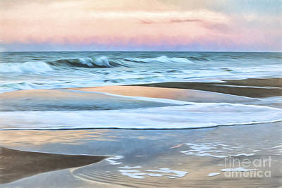 Digital Art - Painted Beach Sunset by Georgianne Giese