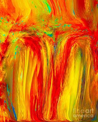 Popular Mixed Media - Painted Beauty Of A Waterfall In Fabulous Color by Catalina Walker