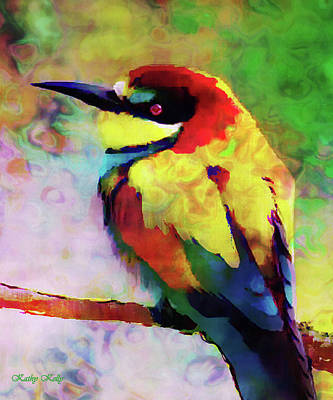 Painted Bee Eater Art Print