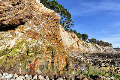 Photograph - Painted Bluff At Ross Creek Beach by Kathleen Bishop