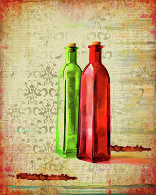 Photograph - Painted Bottles by Larry Bishop
