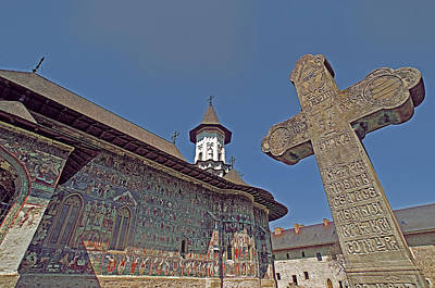 Romanian Icons Photograph - Painted Bucovina Monastery by Dennis Cox WorldViews