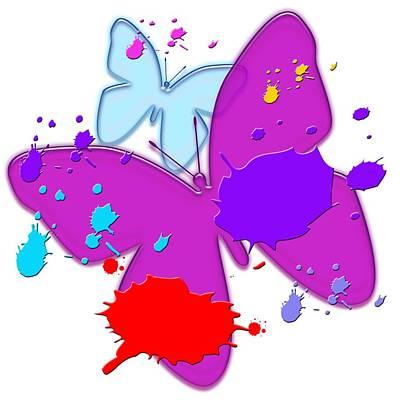 Photograph - Painted Butterflies by Bill Owen