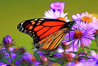 Painted Butterfly Art Print by David Kehrli