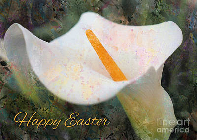 Digital Art - Painted Calla Lily Easter by JH Designs