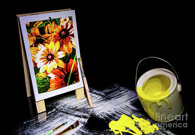 Painted Canvas Art Print