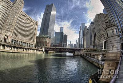 Painted Chicago River Original