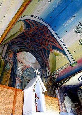 Painted Church 2 Art Print