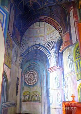 Painted Church 3 Art Print