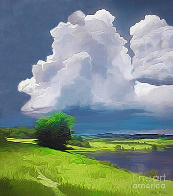 Digital Art - Painted Clouds by Walter Colvin