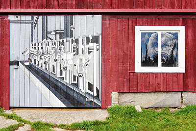 Photograph - Painted Cows by Michael Blanchette