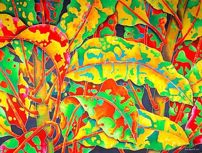 painted Crotons Print by Daniel Jean-Baptiste