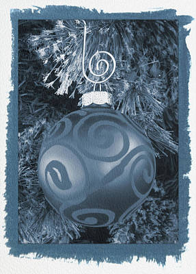 Photograph - Painted Cyanotype Christmas Ornament by Aimee L Maher ALM GALLERY
