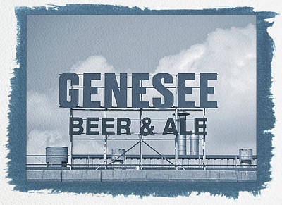 Photograph - Painted Cyanotype Genesee Beer by Aimee L Maher Photography and Art Visit ALMGallerydotcom