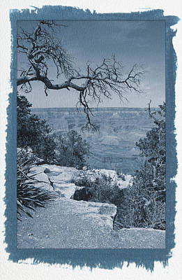 Photograph - Painted Cyanotype Grand Canyon 2 by Aimee L Maher Photography and Art Visit ALMGallerydotcom
