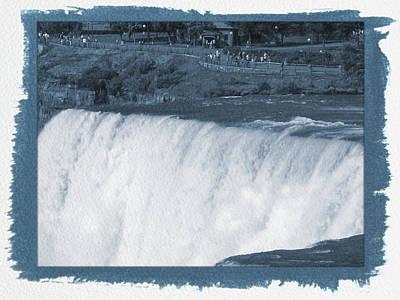 Photograph - Painted Cyanotype Niagara Falls 10 by Aimee L Maher Photography and Art Visit ALMGallerydotcom