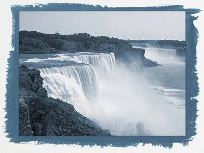 Photograph - Painted Cyanotype Niagara Falls by Aimee L Maher Photography and Art Visit ALMGallerydotcom