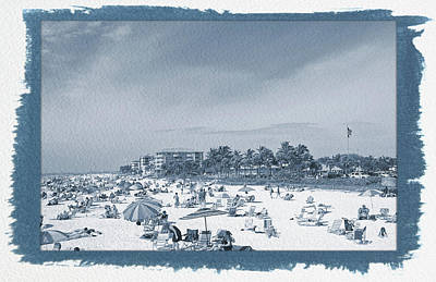 Photograph - Painted Cyanotype Relaxing At Fort Myers Beach by Aimee L Maher Photography and Art Visit ALMGallerydotcom