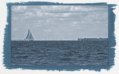 Photograph - Painted Cyanotype Sailing The Blue by Aimee L Maher Photography and Art Visit ALMGallerydotcom