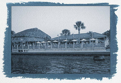 Photograph - Painted Cyanotype Sams On The Gulf by Aimee L Maher ALM GALLERY
