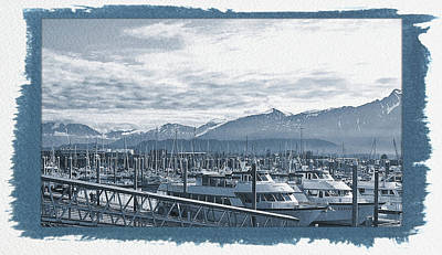 Photograph - Painted Cyanotype Seward Alaska by Aimee L Maher ALM GALLERY
