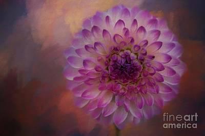 Mixed Media - Painted Dahlia by Eva Lechner
