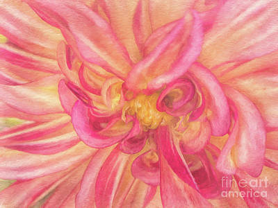 Photograph - Painted Dahlia by Kim Andelkovic