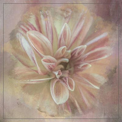 Mixed Media - Painted Dahlia by Teresa Wilson