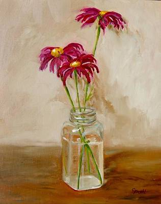 Painting - Painted Daisies by Grace Diehl