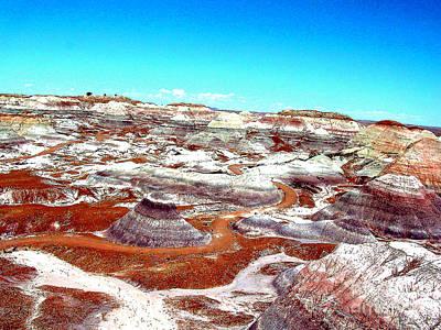 Photograph - Painted Desert Badlands In Arizona by Merton Allen