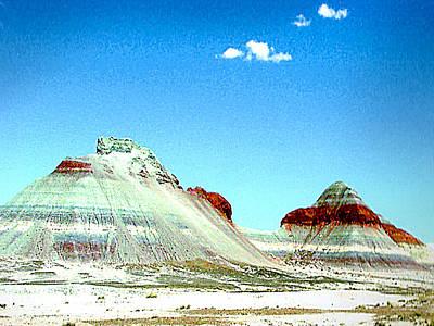Photograph - Painted Desert Dunes - Arizona by Merton Allen